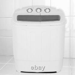 11lb Automatic Washing Machine Compact Twin Tub Laundry Washer Spin Dryer Timer