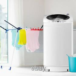 2 IN 1 Compact Automatic Washing Machine Free-Standing Top Load 3.5KG Spin & Dry