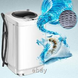 2 in 1 Portable Washing Machine Compact Washer Spin Dryer 6 Modes Adjustable