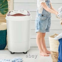 2IN 1 Spin Washing Machine Portable Mini Single Tub Dehydration Laundry Washer
