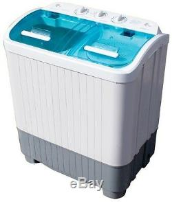 3.5kg Deluxe Twin Tub Portable Washing Machine Spin Dryer Camping Student. Home