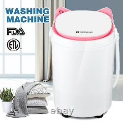 3kg Pink Portable Washing Machine Compact Mini Laundry Washer Baby Lingerie Dorm