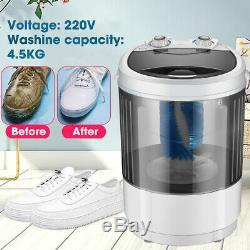 4.5KG Portable Mini Shoes Washing Machine Compact 360° Brush Wash Home Dorm
