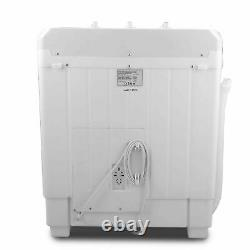 7.5kg Portable Washing Machine Compact Mini Twin Tub Laundry Washer + Spin Dryer