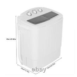 8.4KG 220V Automatic Twin Tub Washing Machine Spin Dryer Laundry Drying Washer