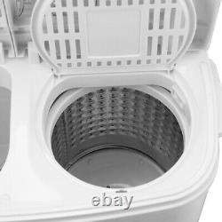 8.4kg Portable Washing Machine Compact Mini Twin Tub Laundry Washer Spin Dryer