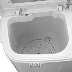 8.5kg Portable Washing Machine Compact Twin Tub Laundry Washer Spin Dryer Home