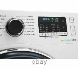 BRAND NEW 8KG SAMSUNG ecobubble WW80J5555FW 1400RPM Washing Machine White A+++