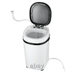 Black 4.6kg Mini Portable Washing Machine Compact Laundry Washer Spin Dryer Baby