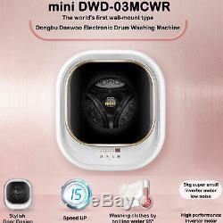 Dongbu Daewoo DWD-03MCWR Wall-Mounted Type Mini Drum Washing Machine 220V 60hz
