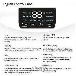 English Control&Manual Wall Mountable WasherDryer Combomini Daewoo DWC-M25CW