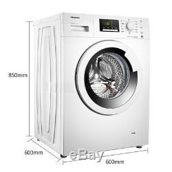 HISENSE 8KG WHITE WASHING MACHINE WFP8014V 15 Minutes Super Quick Wash