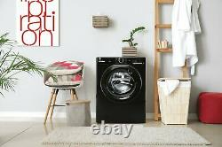 Hoover H3W4102DBBE Free Standing 10KG 1400 Spin Washing Machine Black