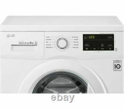 LG Direct Drive F4MT08WE 8kg 1400 Spin White Washing Machine + 2 Year Warranty