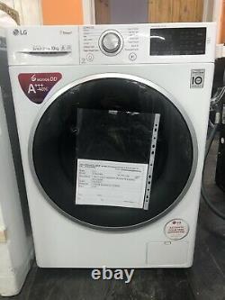 LG F4J610WS 10KG Load 1400 Spin White Washing Machine graded