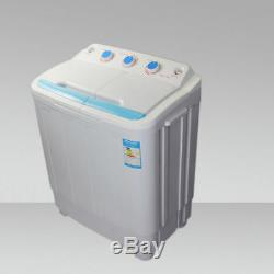 Leisure Direct Twin Portable 230v 4.6kg Washing Machine Spin Dryer Electric Pump
