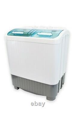 Leisurewize Deluxe Twin Tub Washing Machine Spin Dryer Wash Power LWACC421#