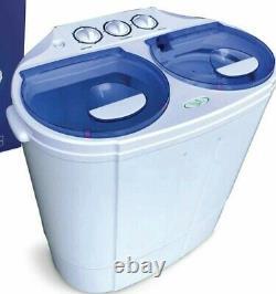 MINI Portable Compact Twin Tub Washing Machine Wash Spin Cycle Drain 13 lbs NEW