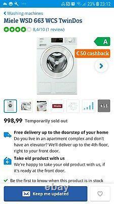 Miele washing machine WWD 660 WCS TwinDos 8kg