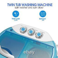 Mini 4.5kg Dorm Portable Washing Machine Twin Tub Compact Dryer Laundry Washer