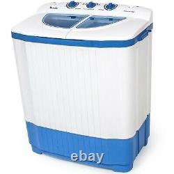 Mini Washing Machine 4,5 kg Portable Twin Tub Camping Washer + Spin Dryer New