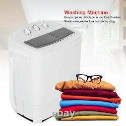Mini Washing Machine 8.5kg Portable Twin Tub Camping Washer + Spin Dryer