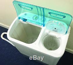 Portable Camping Caravan Travel 3.5kg Washing Machine & 2.5kg Spin Dryer Drying