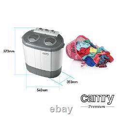 Travel Portable Spin Washing Machine 3kg 450W 2 Modes Camper Caravan Camping UK