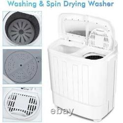 Twin Tub Washing Machine Caravan 8.5kg Compact Loader Portable Spin Dryer