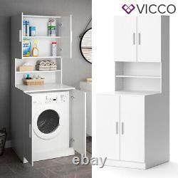 Vicco washing machine cabinet Liana white bathroom cabinet tall cabinet bathroom