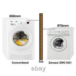 Zanussi ZWC1301 3kg 1300rpm Freestanding Washing Machine White ZWC1301