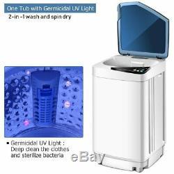 10 Lbs Lavage Entièrement Automatique Machine À Laver Spinner Germicide Bleu Rose Jaune