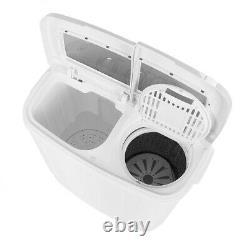 11lb Machine À Laver Automatique Compact Twin Tub Laundry Laveuse Spin Dryer Timer