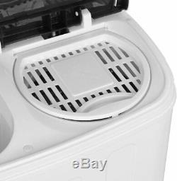 13 Lbs Laver Compact Portable Double Cuve Lavage En Machine Spin Cycle Drain Nouveau