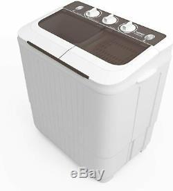17 Lb Portable Compact Double Baignoire Lave-linge Laver Et Spin Cycle De Vidange Nouveau