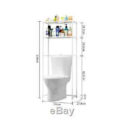 2 Couche Lave-linge Grille Au-dessus La Salle De Bains Toilettes Étagère De Rangement Organisateur