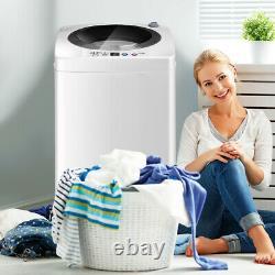 2 En 1 Machine À Laver Portable Compact Laveuse Spin Dryer 6 Modes Réglables