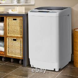 2 In 1 À Chargement Automatique Machine À Laver Lave Spin Led Sèche-linge Affichage 4.5kg