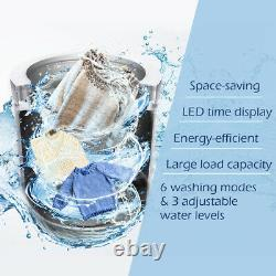 2 In 1 Compact Automatique Washing Machine Autoportante À Chargement Spin & Dry 3,5 KG