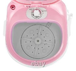 3kg Pink Portable Washing Machine Compact Mini Laundry Laveuse Baby Lingerie Dortoir