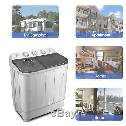 7,5 KG Lave-portable Machine Compacte Mini Double Cuve De Lavage Laveuse Spin Sécheuse
