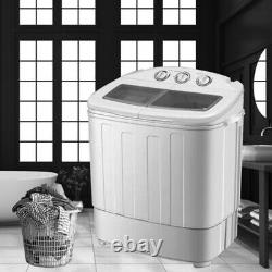 8.4 KG Automatic Washing Machine Timer Twin Tub Load Laundry Laveuse Spin Dryer