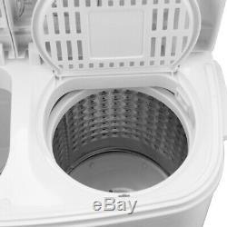 8,4 KG Lave-portable Machine Compacte Mini Double Cuve De Lavage Laveuse Spin Sécheuse