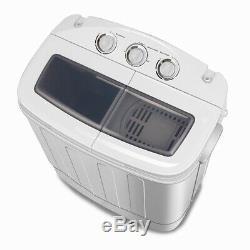 8,4 KG Portable Mini Compact Double Baignoire Lave-linge Sèche-linge Séchant Spin