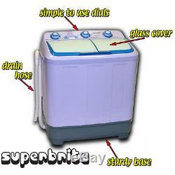Baignoire Double Caravan Compact Washing Machine Portable Spin Sèche-pompe Électrique