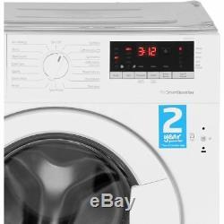 Beko Wir86540f1 A +++ Noté 1600 RPM Intégré 8 KG Lave-linge Blanc Nouveau
