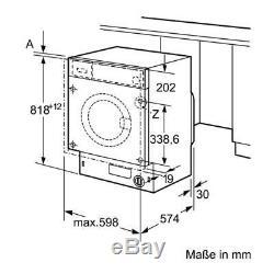 Bosch Wiw28300gb A +++ Noté Entièrement Machine À Laver Intégrée Avec Ecosilence