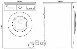 Bush Wmnb1012ew Autoportant 10kg 1200 Variable Spin Machine A +++ Lave-blanc