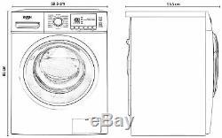 Bush Wmnbx1014w Autoportant 10kg 1600 Spin Machine A +++ Lave-blanc