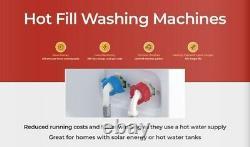 Ebac Awm74d2h-wh Super Silent Washing Machine 7kg, 1400 Spin Hot & Cold Fill